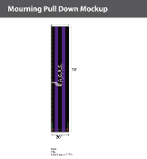 Mourning Pull Downs 20 inch x 10 foot (black & purple)