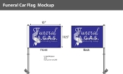 Funeral Car Flags 10.5x15 inch Premium (purple)