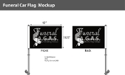 Funeral Car Flags 10.5x15 inch Premium (black)