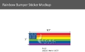 "New Old Glory Pride  Static Clings 3""X10"""