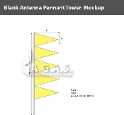 Fluorescent Yellow Antenna Pennant Towers 32 inch