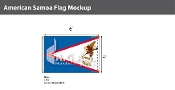 American Samoa Flags 4x6 foot