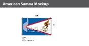 American Samoa Flags 6x10 foot