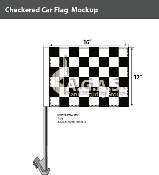 Checkered Car Flags 12x16 inch