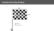 Checkered Car Flags 10.5x15 inch