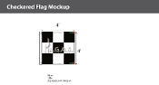 3x3 Checkered Flags 4x4 foot