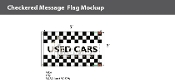 Used Cars Checkered Flags 3x5 foot