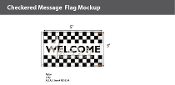 Welcome Checkered Flags 3x5 foot