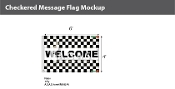 Welcome Checkered Flags 4x6 foot
