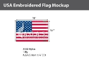USA Embroidered Flags 12x18 inch (Made in the USA)