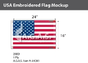 USA Embroidered Flags 16x24 inch (Made in the USA)