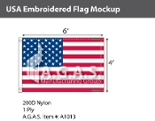 USA Embroidered Flags 4x6 foot (Made in the USA)