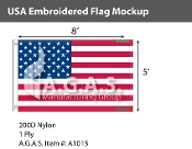 USA Embroidered Flags 5x8 foot (Made in the USA)