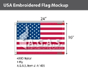 USA Embroidered Flags 16x24 inch