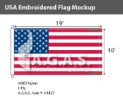 USA Embroidered Flags 10x19 foot
