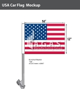 USA Car Flags 12x16 inch Economy