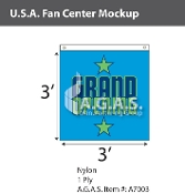 USA Fan Centers Only 3x3 foot with Grand Opening