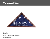 Poplar Memorial Cases for 5x9.5 foot flags