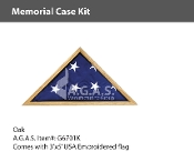 Oak Memorial Case Kits for 3x5 foot flags