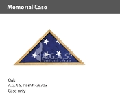 Oak Memorial Cases for 3x5 foot flags