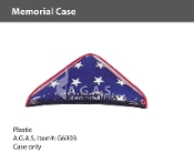 Plastic Memorial Cases for 5x9.5 foot flags