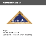 Maple Memorial Case Kits for 5x9.5 foot flags