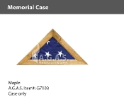 Maple Memorial Cases for 5x9.5 foot flags