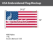 USA Embroidered Flags 18x34.2 inch (Official Size)