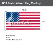 USA Embroidered Flags 24x45.6 inch (Official Size)