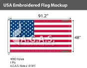 USA Embroidered Flags 48x91.2 inch (Official Size)