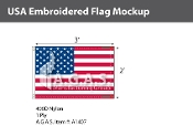 USA Embroidered Flags 2x3 foot
