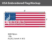 USA Embroidered Flags 3x8 foot