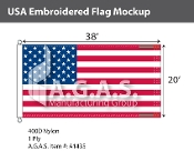 USA Embroidered Flags 20x38 foot