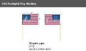 USA Toothpick Flags 2.75 inch (by box - 100 per box)