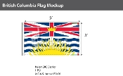 British Columbia Flags 3x5 foot (Official ratio 3:5)