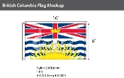 British Columbia Flags 6x10 foot (Official ratio 3:5)