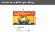 New Brunswick Flags 2.5x4 foot (Official ratio 2.5:4)
