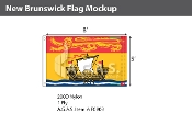 New Brunswick Flags 5x8 foot (Official ratio 2.5:4)