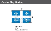 Quebec Flags 2x3 foot (Official ratio 2:3)