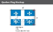 Quebec Flags 4x6 foot (Official ratio 2:3)