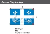 Quebec Flags 6x9 foot (Official ratio 2:3)