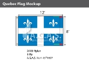 Quebec Flags 8x12 foot (Official ratio 2:3)