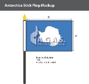 Antarctica Stick Flags 4x6 inch (Graham Bartran)
