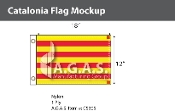 Catalonia Flags 12x18 inch