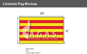 Catalonia Flags 6x10 foot
