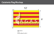 Catalonia Flags 8x12 foot