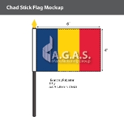 Chad Stick Flags 4x6 inch