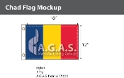 Chad Flags 12x18 inch