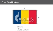 Chad Flags 3x5 foot
