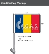 Chad Car Flags 12x16 inch Economy